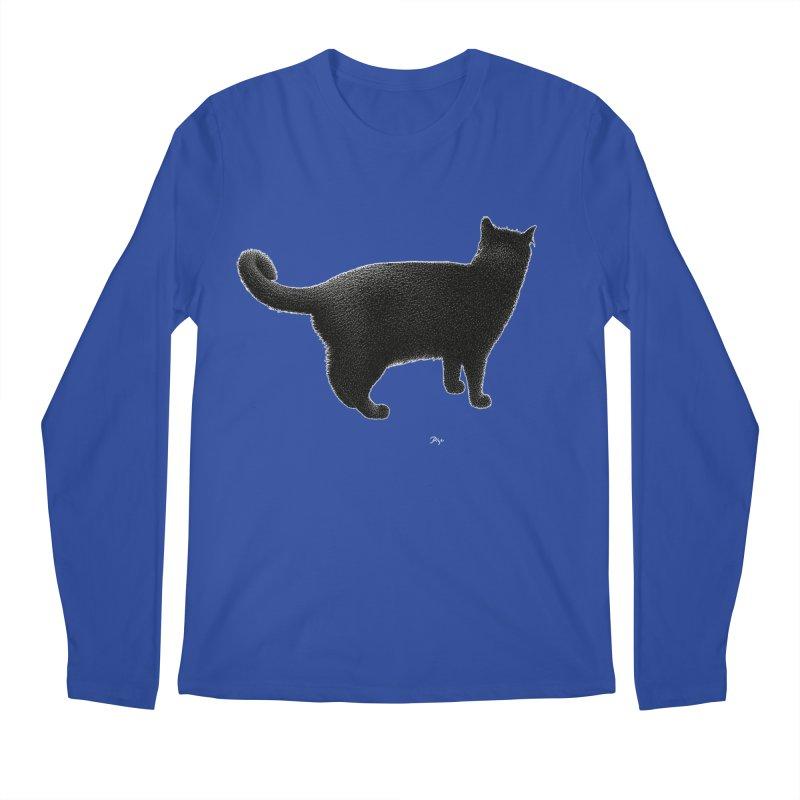 Black Cat by Igor Pose Men's Regular Longsleeve T-Shirt by IgorPose's Artist Shop