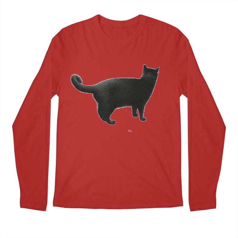 Black Cat by Igor Pose Men's Longsleeve T-Shirt by IgorPose's Artist Shop