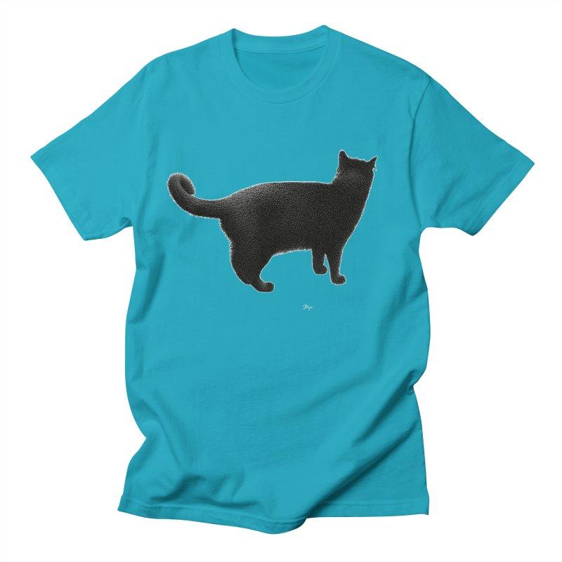 Black Cat by Igor Pose Women's Regular Unisex T-Shirt by IgorPose's Artist Shop