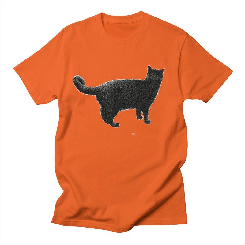 Black Cat by Igor Pose Men's T-Shirt by IgorPose's Artist Shop