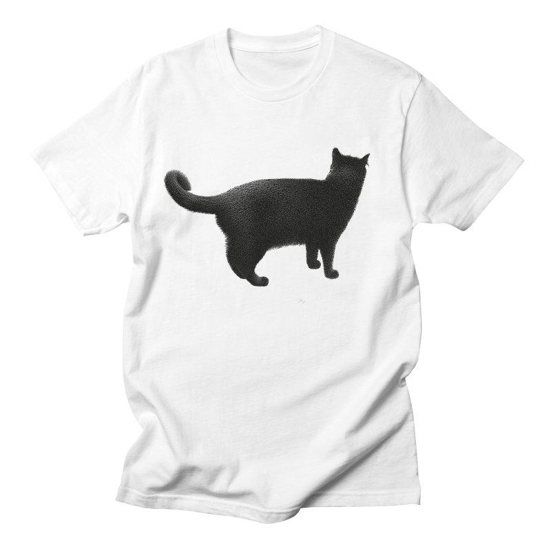 Black Cat by Igor Pose Men's Regular T-Shirt by IgorPose's Artist Shop