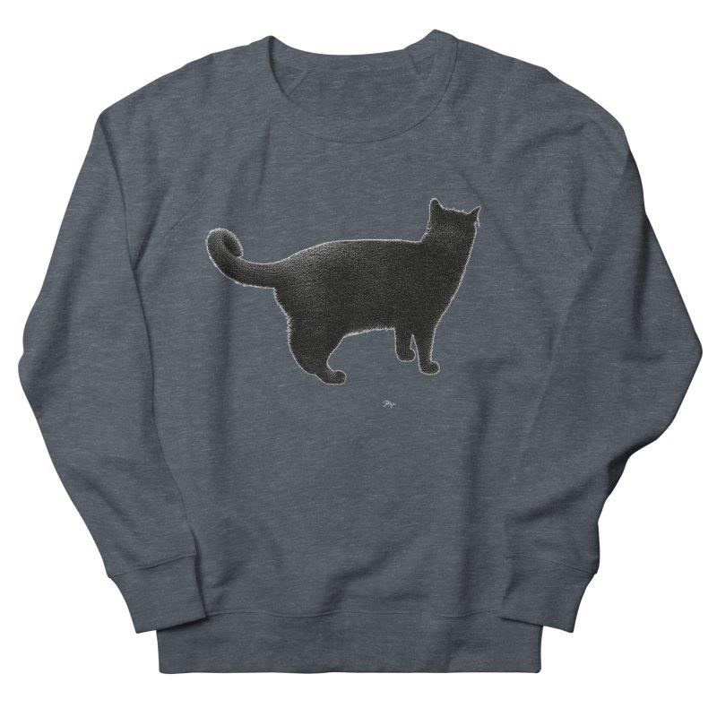 Black Cat by Igor Pose Women's French Terry Sweatshirt by IgorPose's Artist Shop