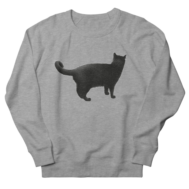 Black Cat by Igor Pose Women's French Terry Sweatshirt by IgorPose's Artist Shop