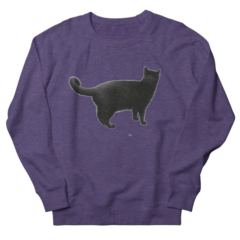 Black Cat by Igor Pose Men's French Terry Sweatshirt by IgorPose's Artist Shop