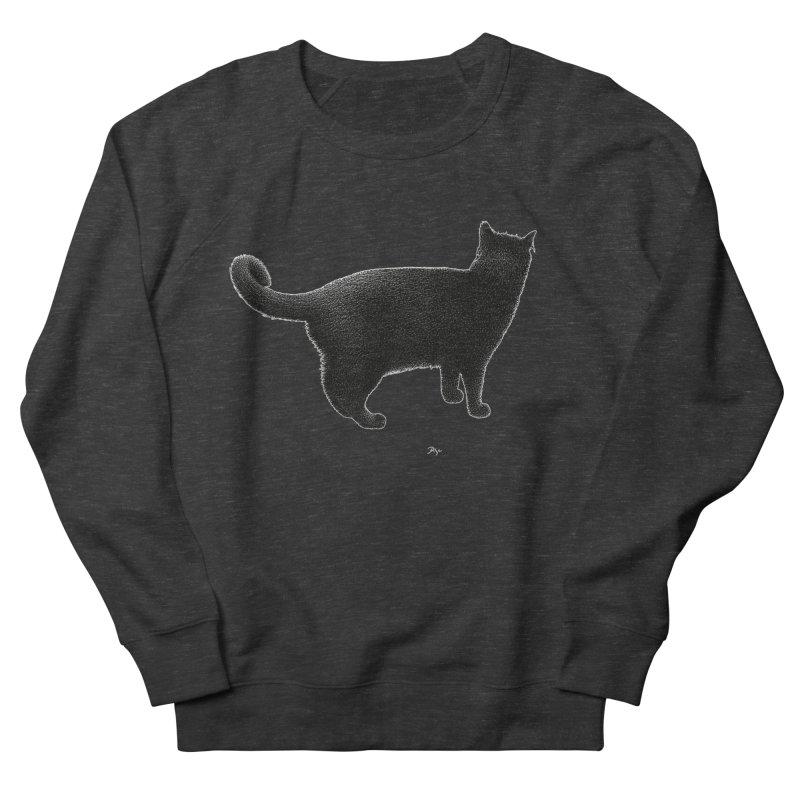 Black Cat by Igor Pose Men's French Terry Sweatshirt by IgorPose's Artist Shop