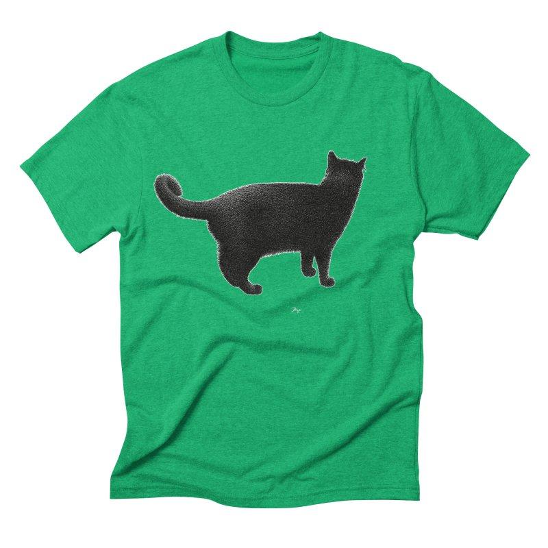 Black Cat by Igor Pose Men's Triblend T-Shirt by IgorPose's Artist Shop