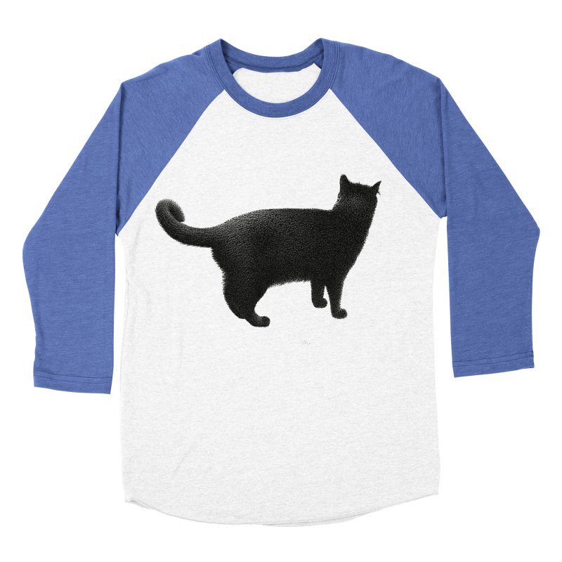 Black Cat by Igor Pose Women's Baseball Triblend Longsleeve T-Shirt by IgorPose's Artist Shop