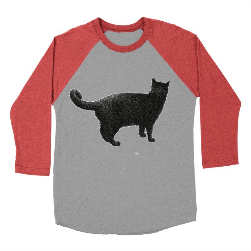 Black Cat by Igor Pose Men's Baseball Triblend Longsleeve T-Shirt by IgorPose's Artist Shop