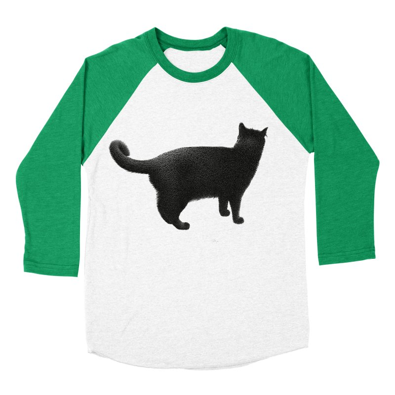 Black Cat by Igor Pose Men's Baseball Triblend T-Shirt by IgorPose's Artist Shop