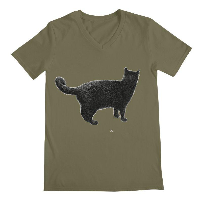 Black Cat by Igor Pose Men's Regular V-Neck by IgorPose's Artist Shop