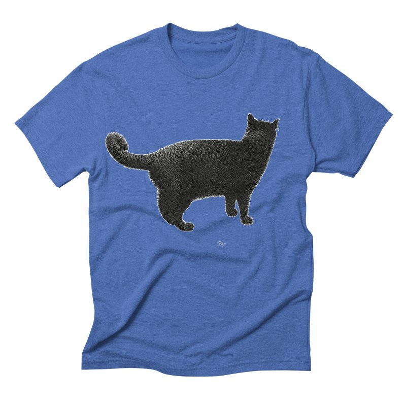 Black Cat by Igor Pose Men's Triblend T-shirt by IgorPose's Artist Shop