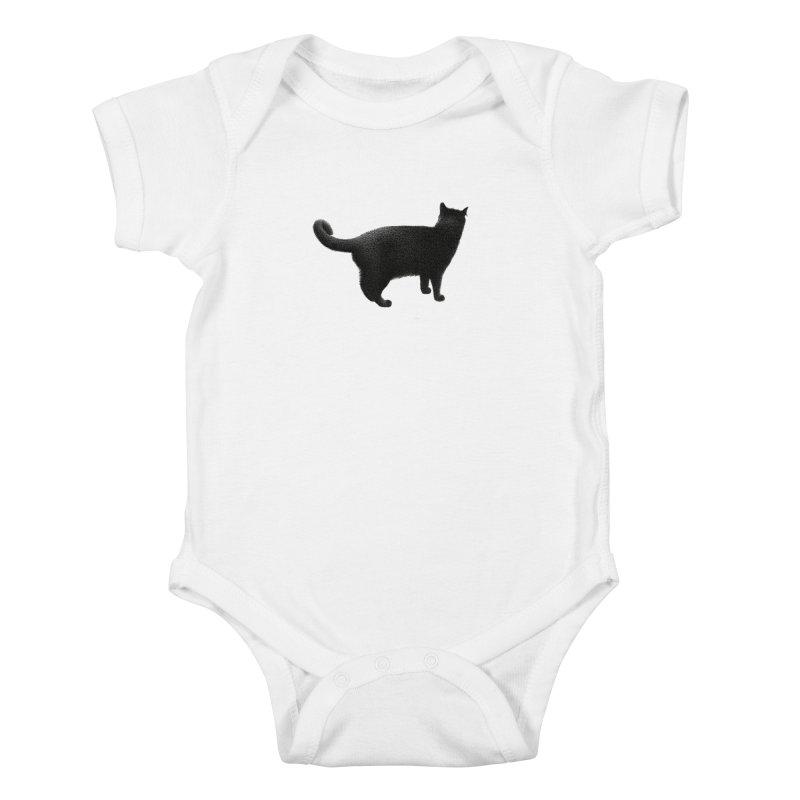 Black Cat by Igor Pose Kids Baby Bodysuit by IgorPose's Artist Shop
