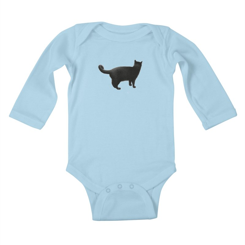 Black Cat by Igor Pose Kids Baby Longsleeve Bodysuit by IgorPose's Artist Shop