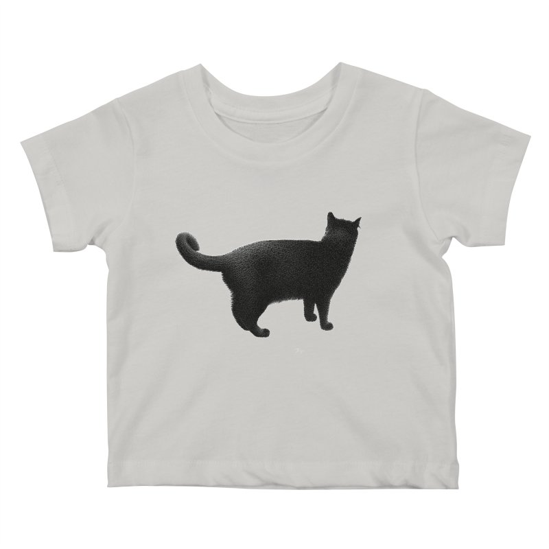 Black Cat by Igor Pose Kids Baby T-Shirt by IgorPose's Artist Shop