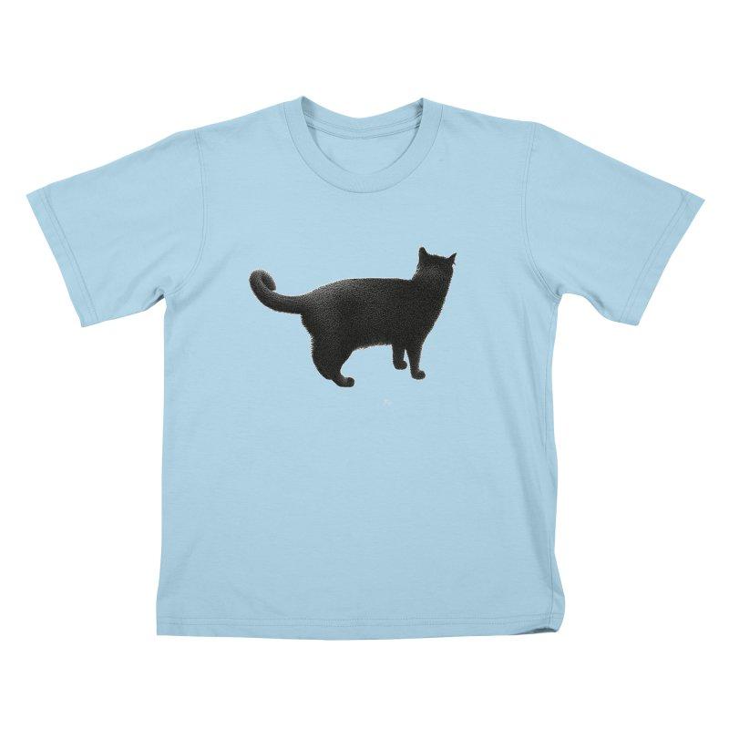 Black Cat by Igor Pose Kids T-Shirt by IgorPose's Artist Shop
