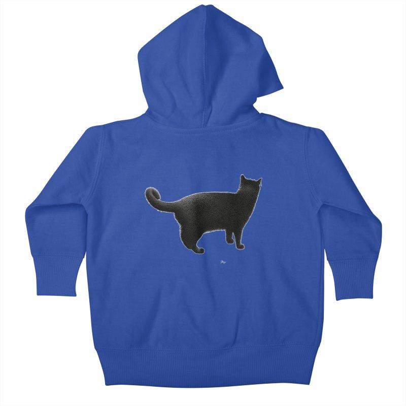 Black Cat by Igor Pose Kids Baby Zip-Up Hoody by IgorPose's Artist Shop