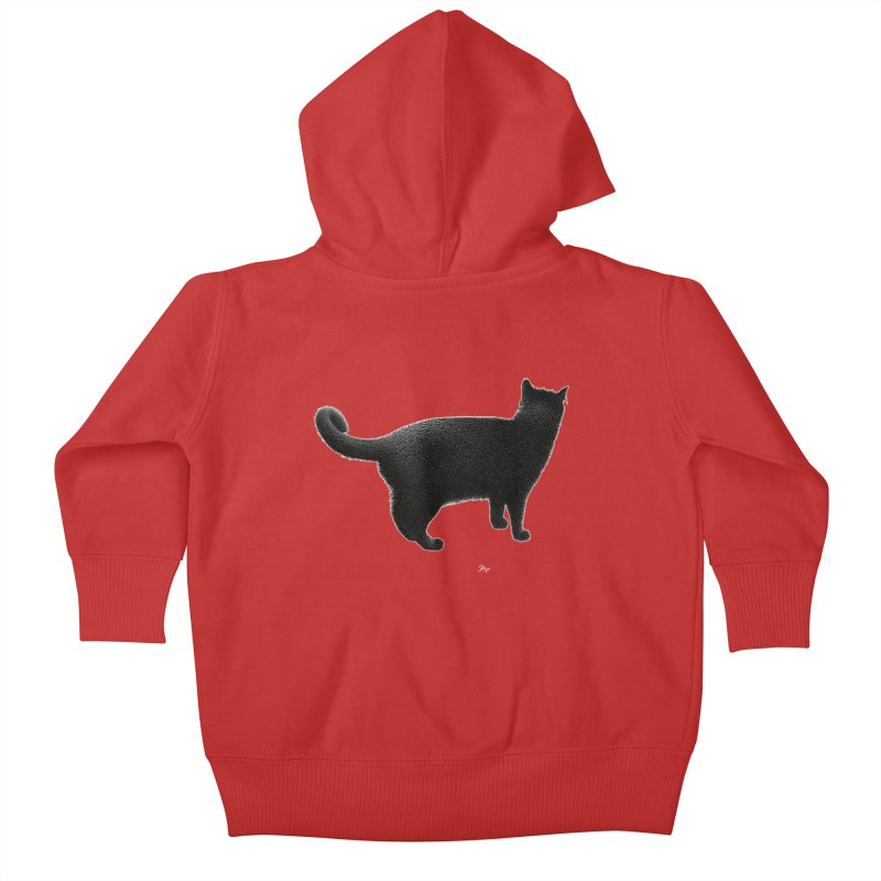 Black Cat by Igor Pose Kids Baby Zip-Up Hoody by IgorPose's Artist Shop