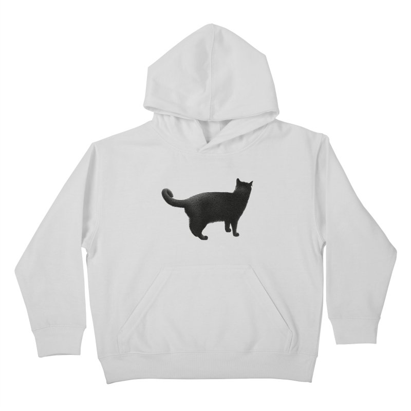 Black Cat by Igor Pose Kids Pullover Hoody by IgorPose's Artist Shop