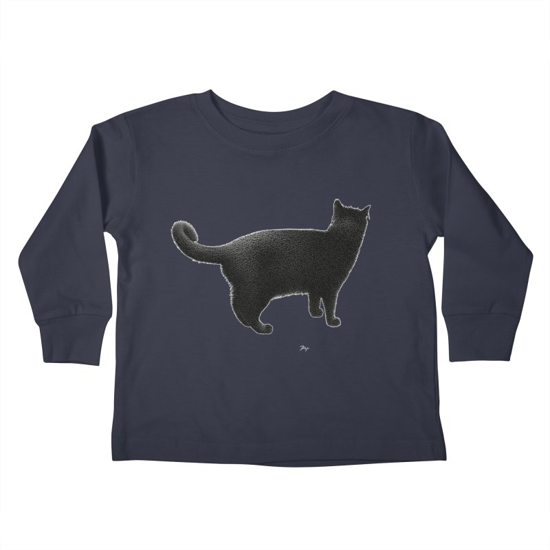 Black Cat by Igor Pose Kids Toddler Longsleeve T-Shirt by IgorPose's Artist Shop