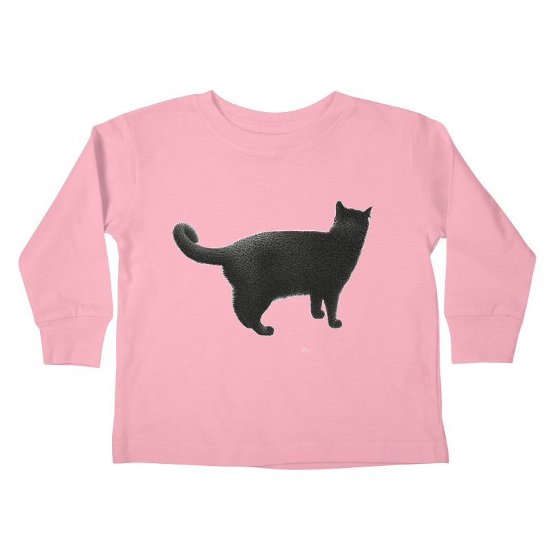 Black Cat by Igor Pose Kids Toddler Longsleeve T-Shirt by IgorPose's Artist Shop