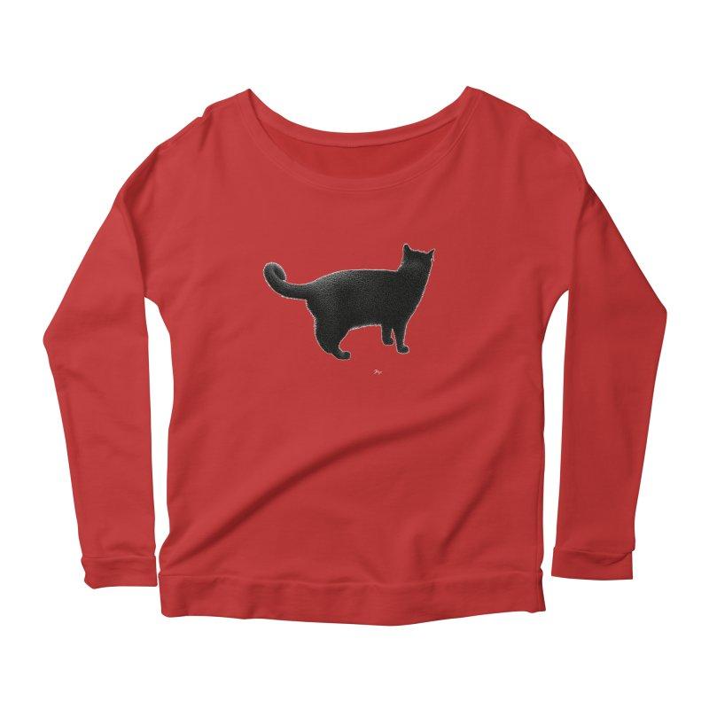 Black Cat by Igor Pose Women's Scoop Neck Longsleeve T-Shirt by IgorPose's Artist Shop