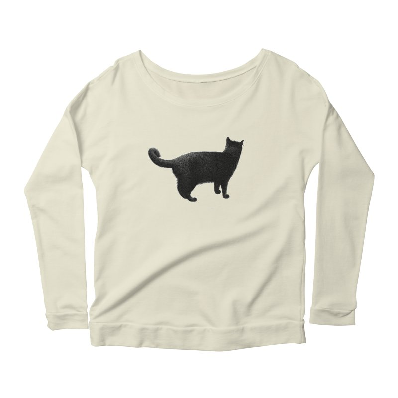 Black Cat by Igor Pose Women's Scoop Neck Longsleeve T-Shirt by IgorPose's Artist Shop