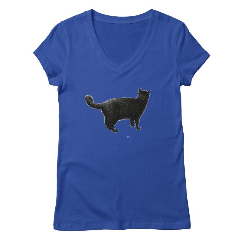 Black Cat by Igor Pose Women's Regular V-Neck by IgorPose's Artist Shop