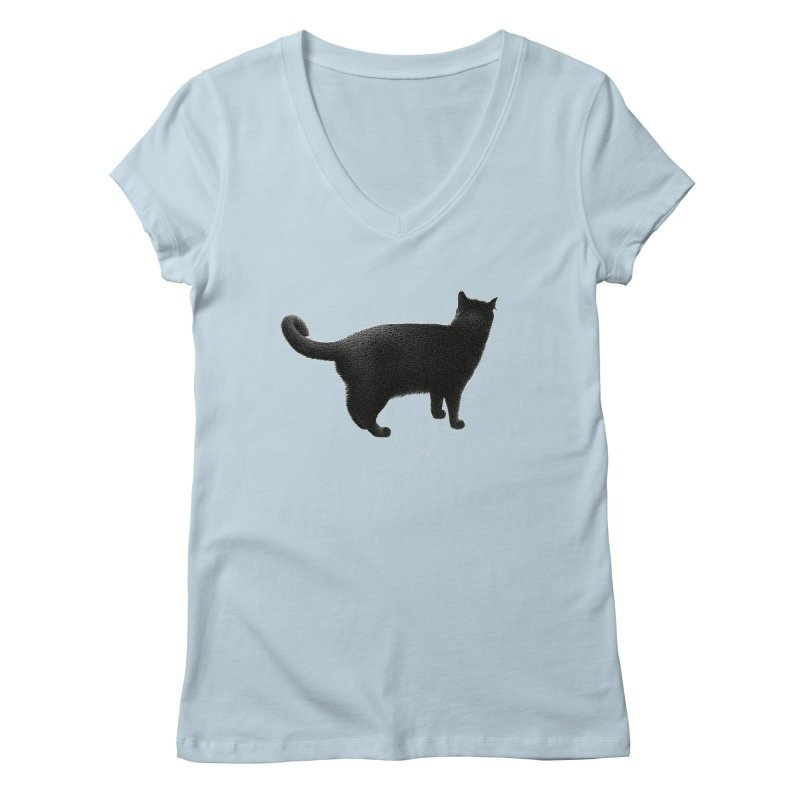 Black Cat by Igor Pose Women's V-Neck by IgorPose's Artist Shop
