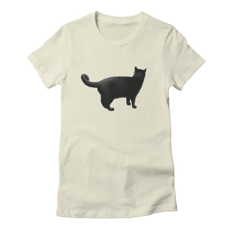 Black Cat by Igor Pose Women's Fitted T-Shirt by IgorPose's Artist Shop