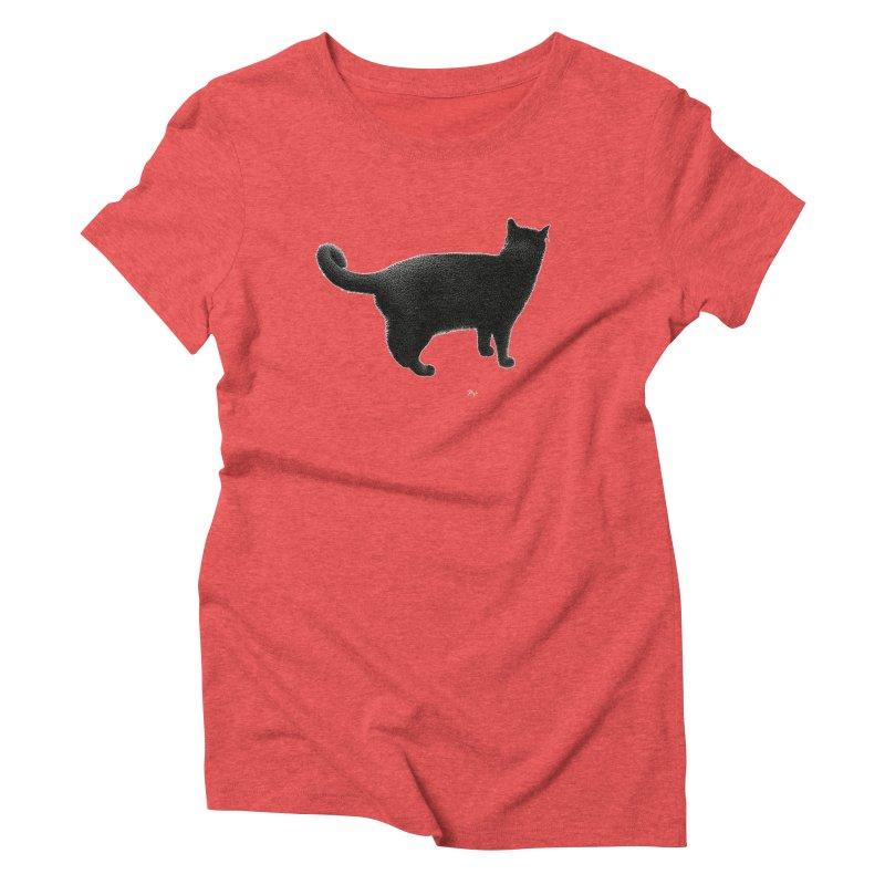 Black Cat by Igor Pose Women's Triblend T-Shirt by IgorPose's Artist Shop