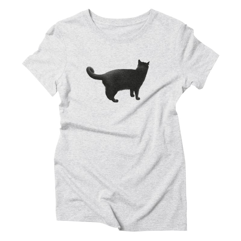 Black Cat by Igor Pose Women's Triblend T-Shirt by IgorPose's Artist Shop