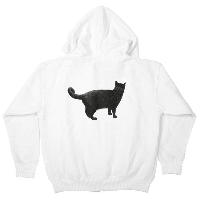 Black Cat by Igor Pose Kids Zip-Up Hoody by IgorPose's Artist Shop