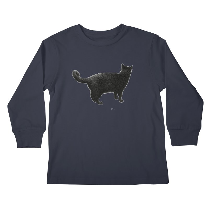 Black Cat by Igor Pose Kids Longsleeve T-Shirt by IgorPose's Artist Shop