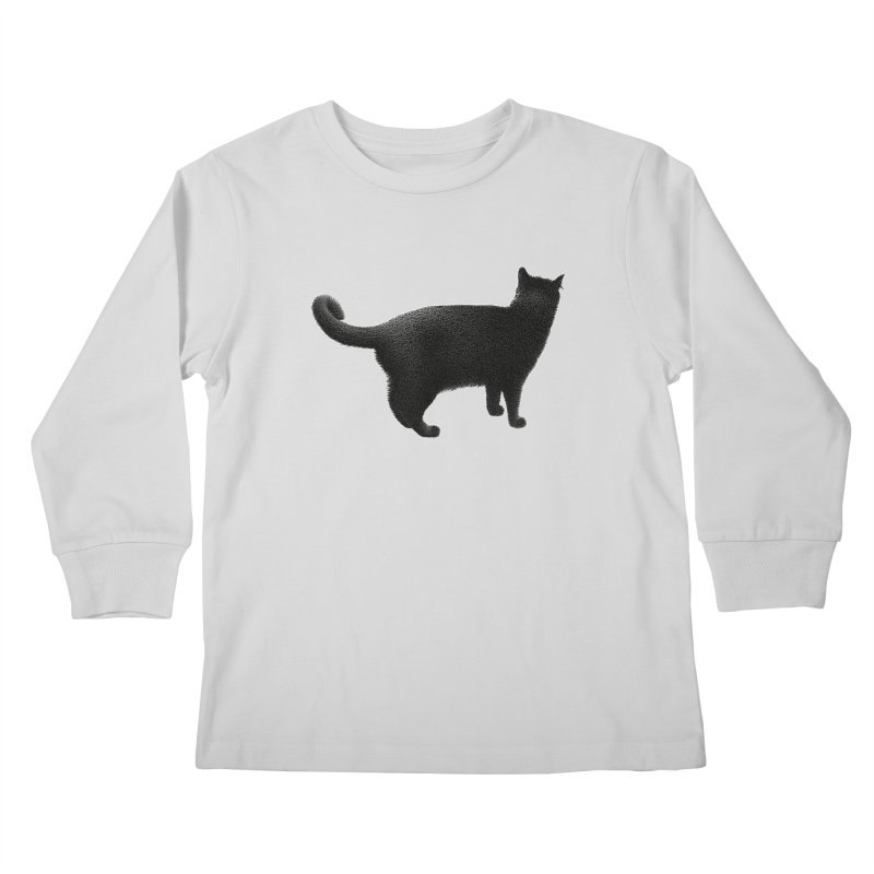 Black Cat by Igor Pose Kids Longsleeve T-Shirt by IgorPose's Artist Shop