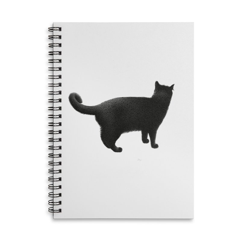 Black Cat by Igor Pose Accessories Lined Spiral Notebook by IgorPose's Artist Shop