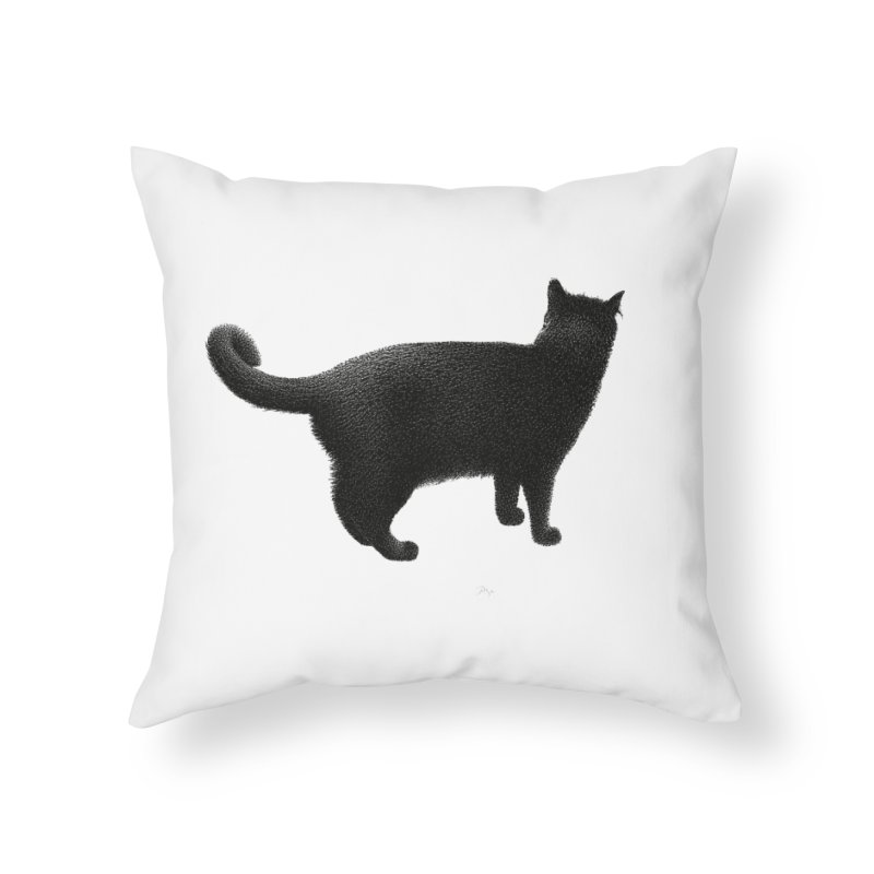 Black Cat by Igor Pose Home Throw Pillow by IgorPose's Artist Shop
