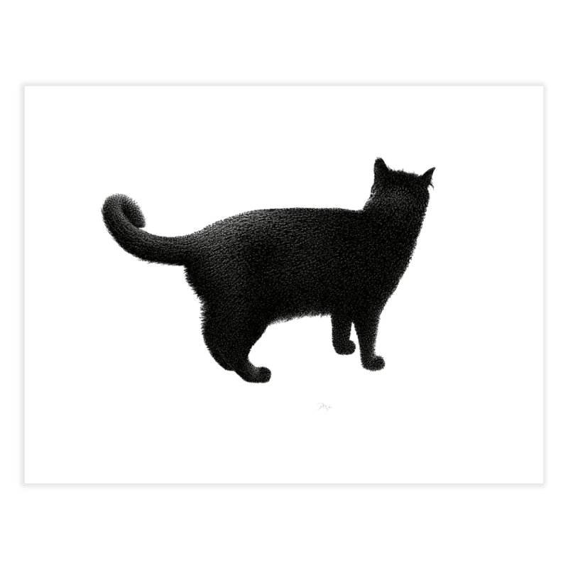 Black Cat by Igor Pose Home Fine Art Print by IgorPose's Artist Shop