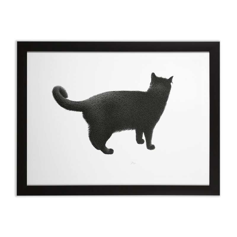 Black Cat by Igor Pose Home Framed Fine Art Print by IgorPose's Artist Shop