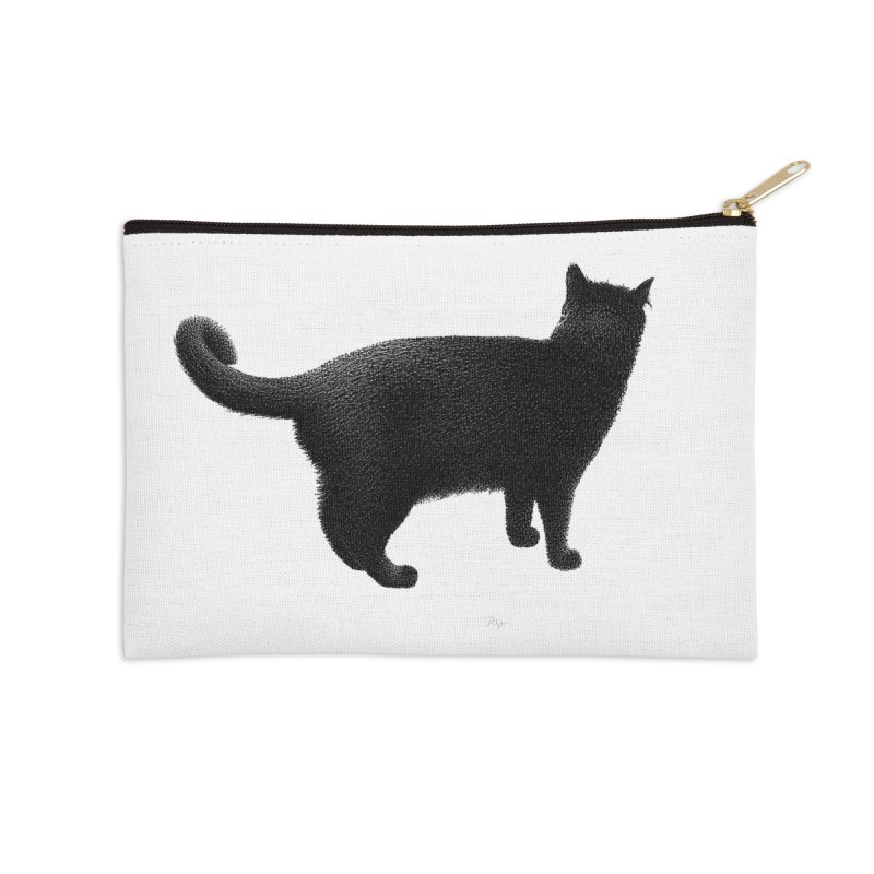 Black Cat by Igor Pose Accessories Zip Pouch by IgorPose's Artist Shop