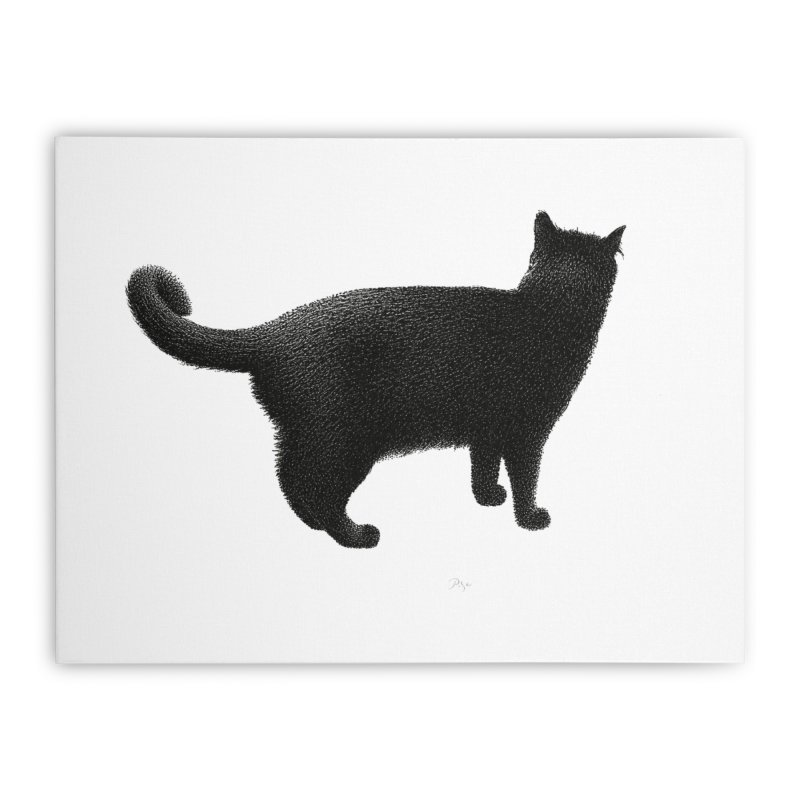Black Cat by Igor Pose Home Stretched Canvas by IgorPose's Artist Shop