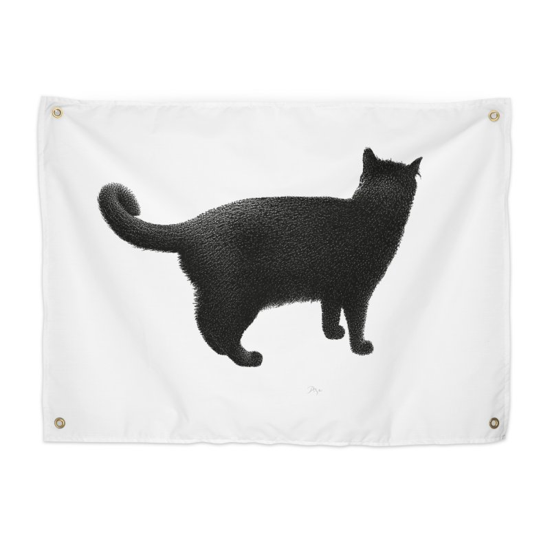 Black Cat by Igor Pose Home Tapestry by IgorPose's Artist Shop