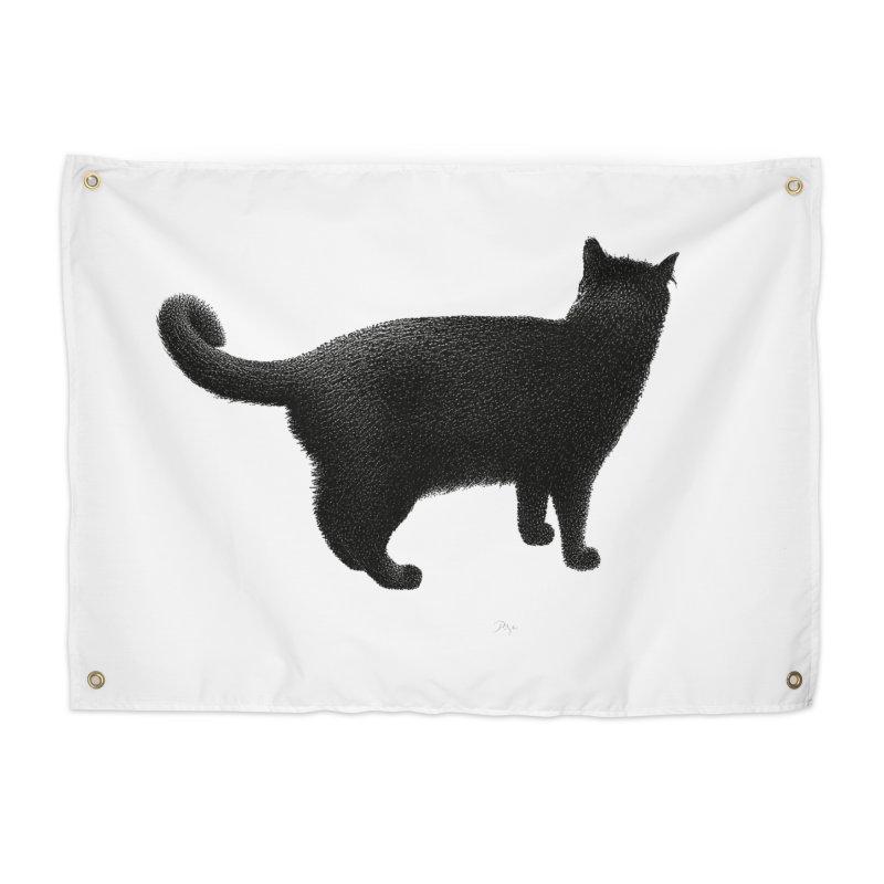 Black Cat by Igor Pose Home Tapestry by IgorPose's Artist Shop