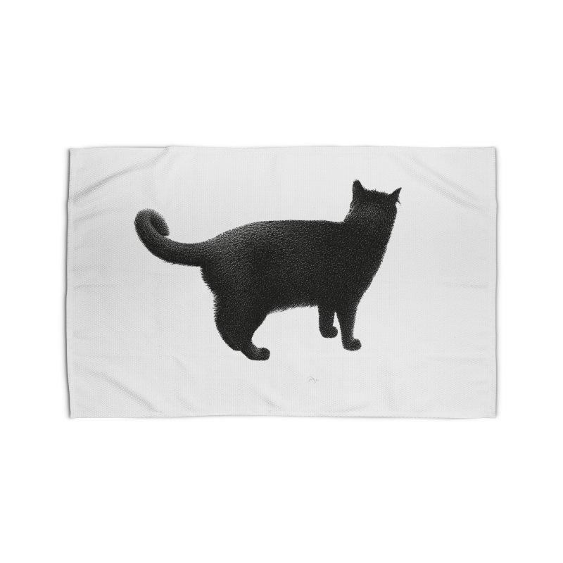 Black Cat by Igor Pose Home Rug by IgorPose's Artist Shop
