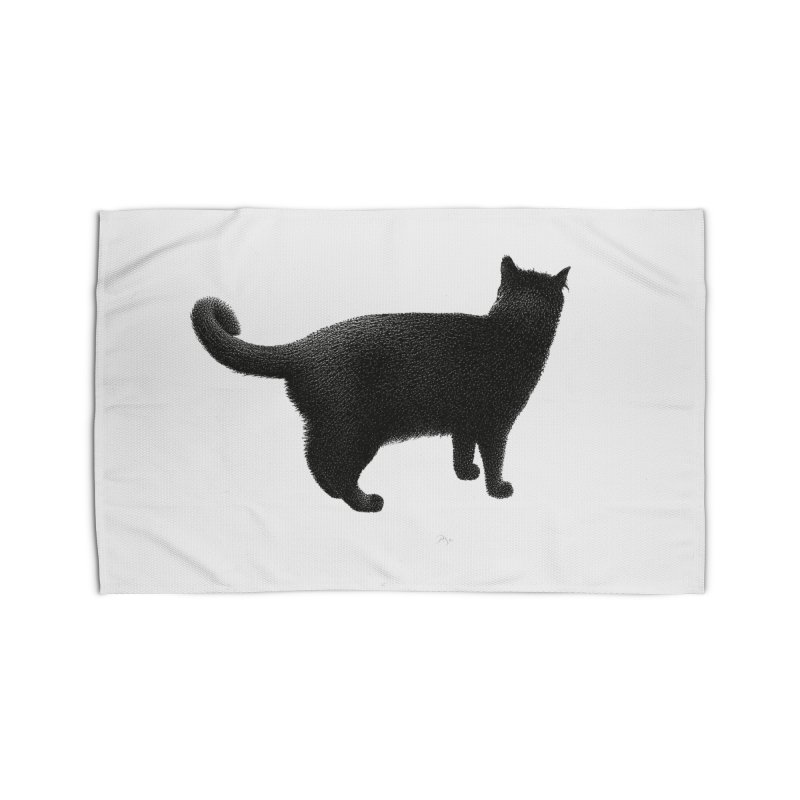 Black Cat by Igor Pose Home Rug by IgorPose's Artist Shop