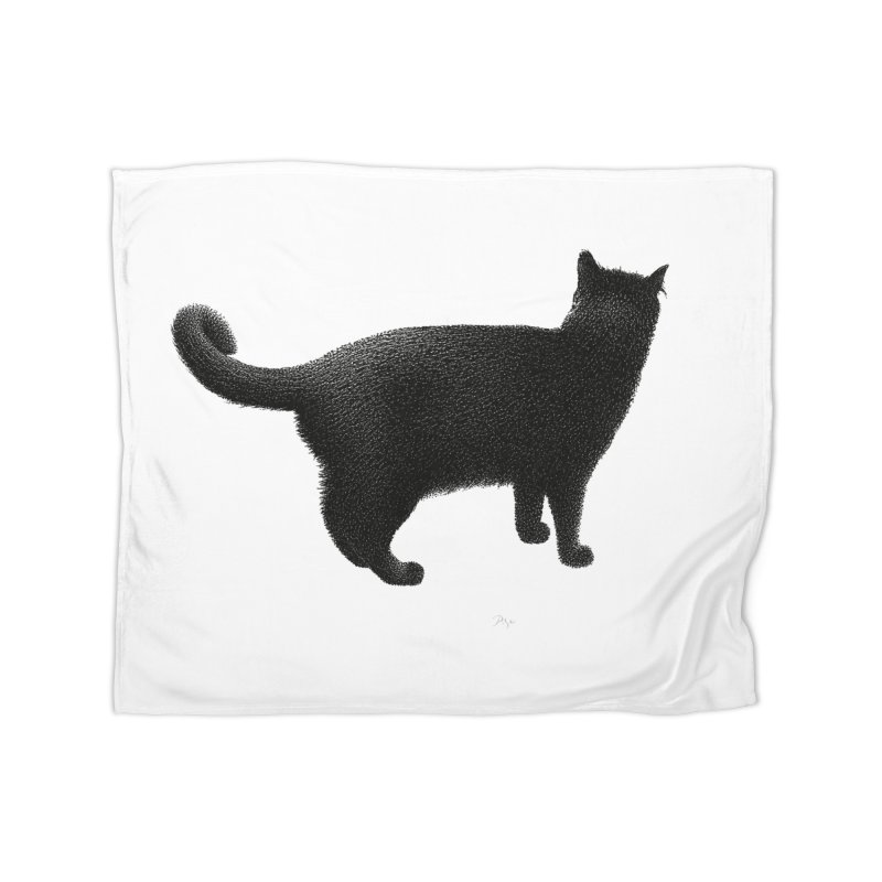 Black Cat by Igor Pose Home Blanket by IgorPose's Artist Shop