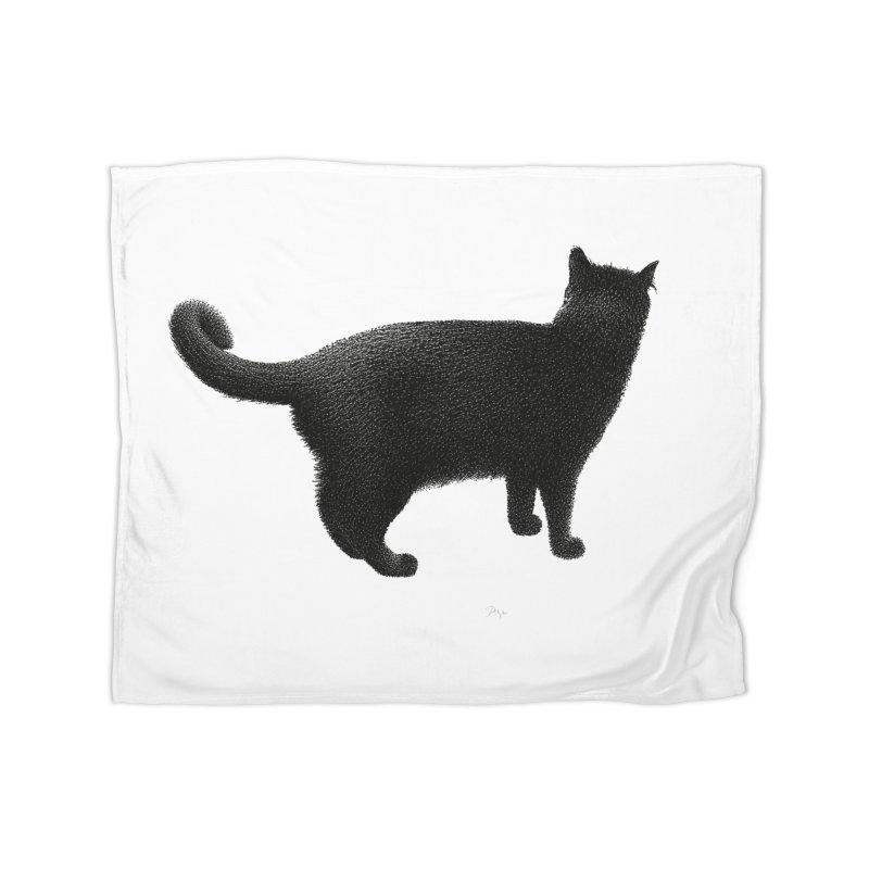 Black Cat by Igor Pose Home Fleece Blanket Blanket by IgorPose's Artist Shop