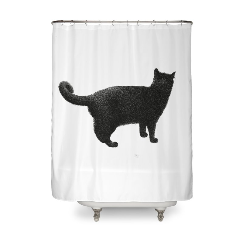 Black Cat by Igor Pose Home Shower Curtain by IgorPose's Artist Shop