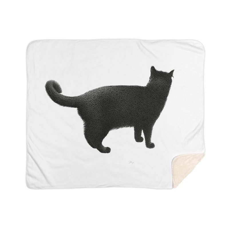Black Cat by Igor Pose Home Sherpa Blanket Blanket by IgorPose's Artist Shop