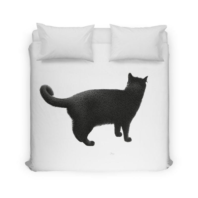 Black Cat by Igor Pose Home Duvet by IgorPose's Artist Shop