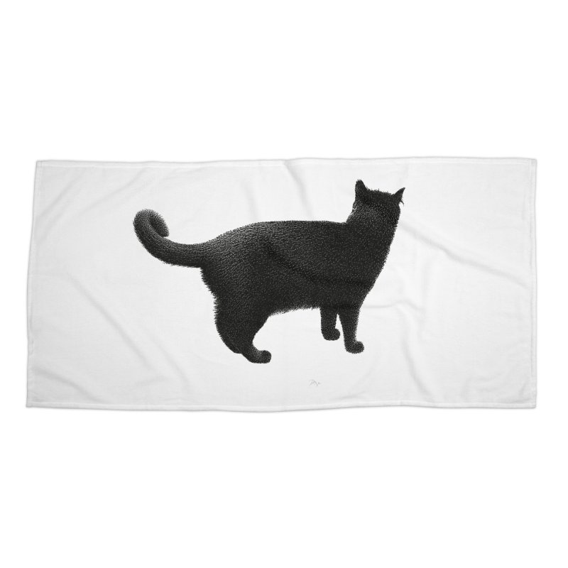 Black Cat by Igor Pose Accessories Beach Towel by IgorPose's Artist Shop